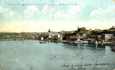 Hudson River - Troy, New York NY Postcard