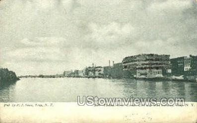 Hudson River Collar - Troy, New York NY Postcard