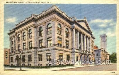 Rensselaer County Court House - Troy, New York NY Postcard