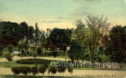 Prospect Park - Troy, New York NY Postcard