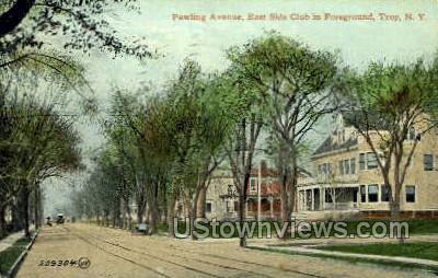 Pawling Ave. - Troy, New York NY Postcard