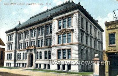 Troy High School Bldg. - New York NY Postcard