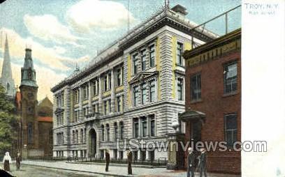 High School, Troy - New York NY Postcard