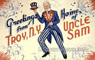 Uncle Sam - Troy, New York NY Postcard