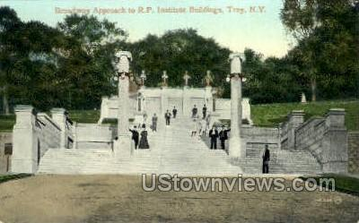 R.P. Institute Bldgs - Troy, New York NY Postcard