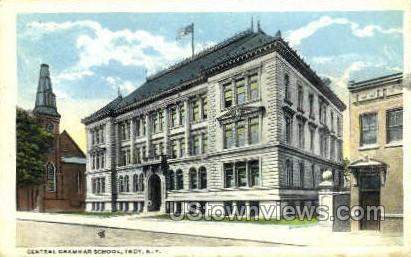 Central Grammar School - Troy, New York NY Postcard