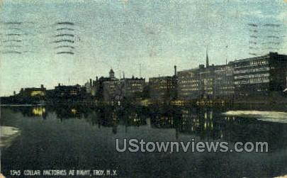 Collar Factories - Troy, New York NY Postcard
