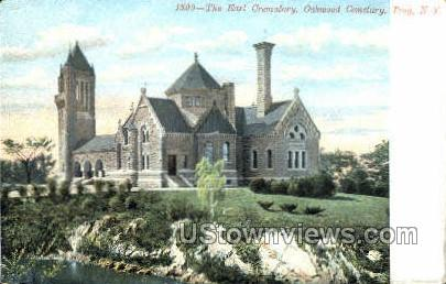 The Earl Crematory - Troy, New York NY Postcard