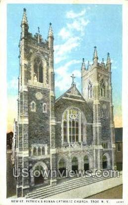 St. Patrick's Roman Catholic Church - Troy, New York NY Postcard