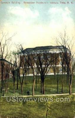 Carnegie Bldg. - Troy, New York NY Postcard
