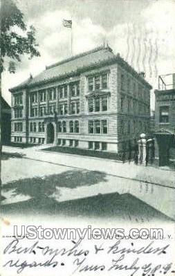 Troy High School - New York NY Postcard