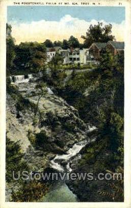 Poestenkill Falls - Troy, New York NY Postcard