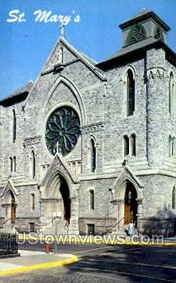 St. Mary's Roman Catholic Church - Troy, New York NY Postcard