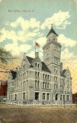Post Office - Troy, New York NY Postcard