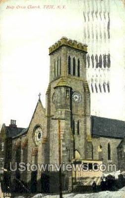 Holy Cross Church - Troy, New York NY Postcard