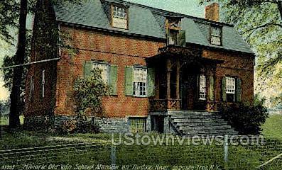 Old Van Schaick Mansion - Troy, New York NY Postcard