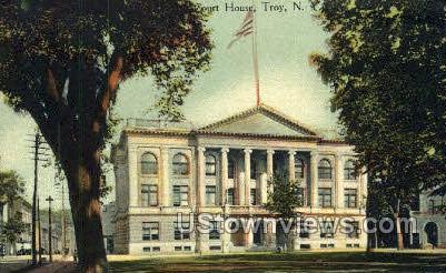 Court House - Troy, New York NY Postcard