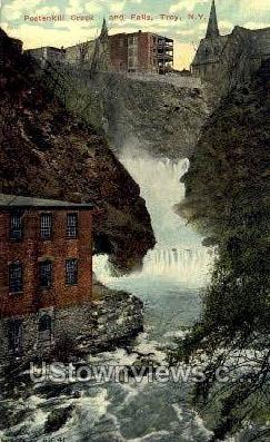 Postenkill Creek & Falls - Troy, New York NY Postcard