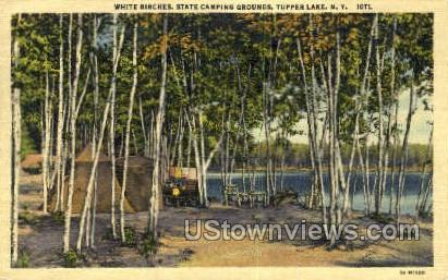 State Camping Grounds - Tupper Lake, New York NY Postcard