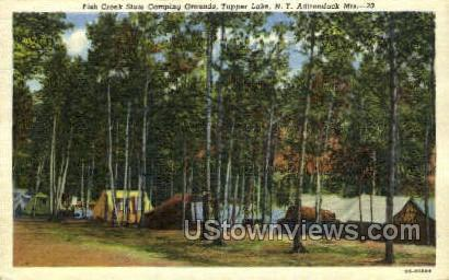 Fish Creek State Camping Grounds - Tupper Lake, New York NY Postcard