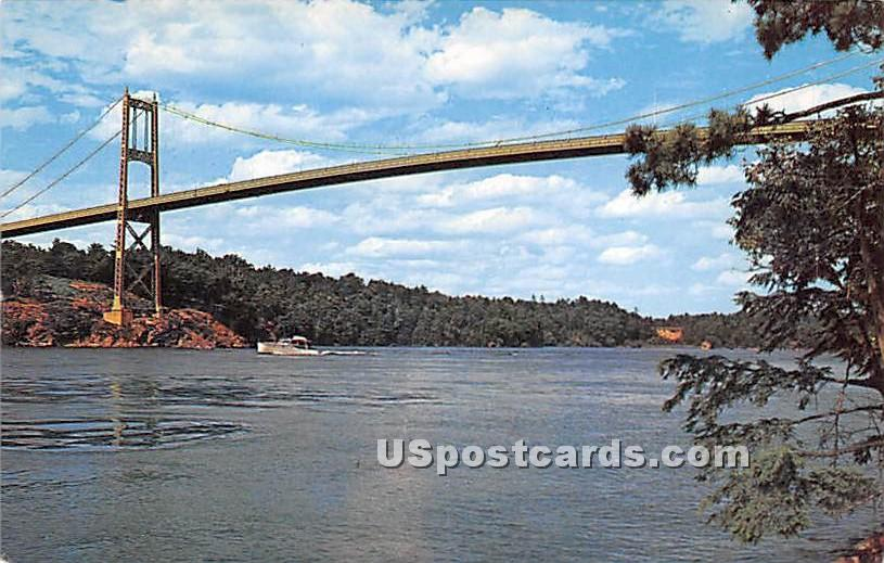 1000 Islands International Bridg - Thousand Islands, New York NY Postcard