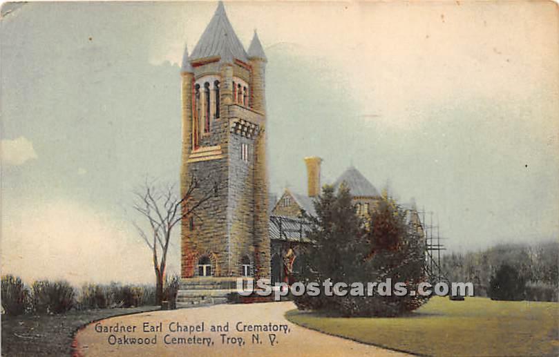 Gardner Earl Chapel & Crematory - Troy, New York NY Postcard