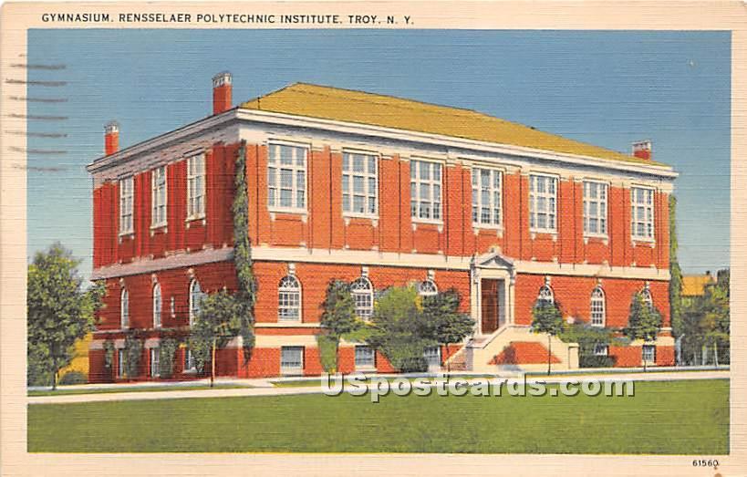 Gymnasium, Rensselaer Polytechnic Institute - Troy, New York NY Postcard