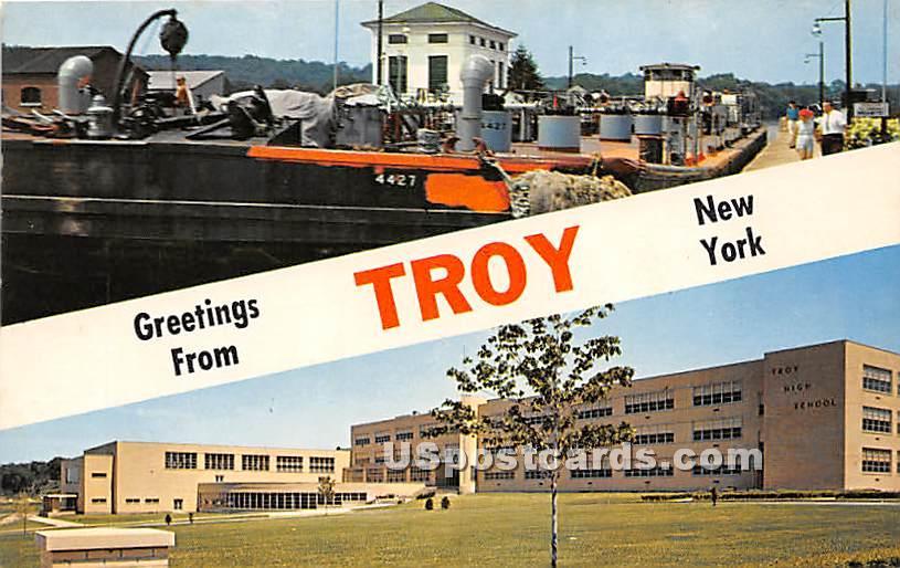 Troy, New York NY Postcard