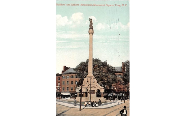 Soldiers' & Sailors' Monument Troy, New York Postcard