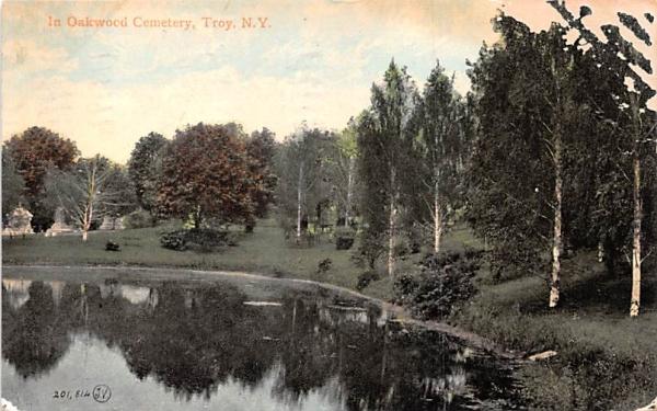 Oakwood Cemetery Troy, New York Postcard