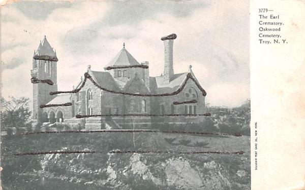 Earl Crematory Troy, New York Postcard