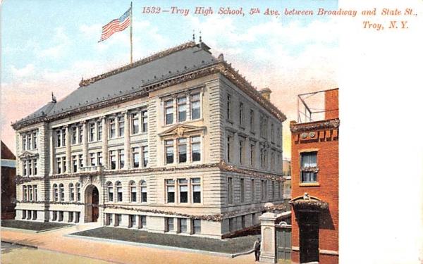 Troy High School New York Postcard
