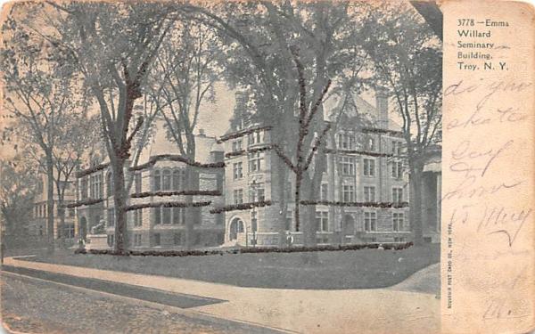 Emma Willard Seminary Buildings Troy, New York Postcard