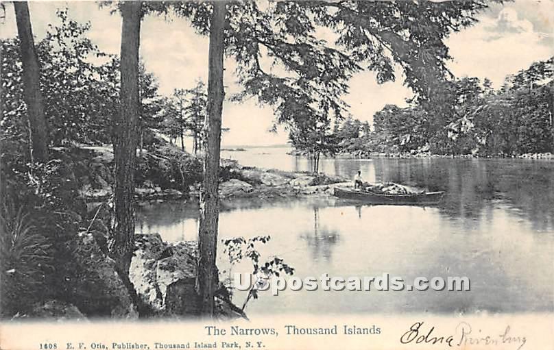 The Narrows - Thousand Islands, New York NY Postcard