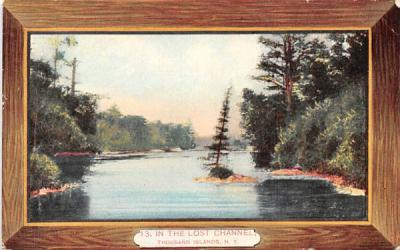 In the Lost Channel Thousand Islands, New York Postcard