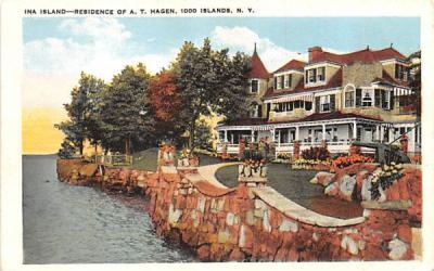 Ina Island Thousand Islands, New York Postcard