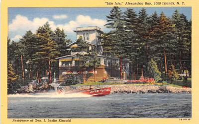Idle Isle Thousand Islands, New York Postcard