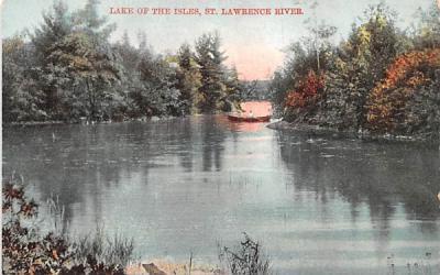 Lake of the Isles Thousand Islands, New York Postcard