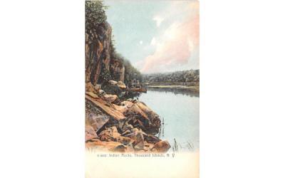 Indian Rocks Thousand Islands, New York Postcard