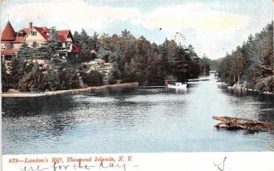 Landon's Rift Thousand Islands, New York Postcard