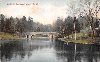 Lake in Oakwood Troy, New York Postcard
