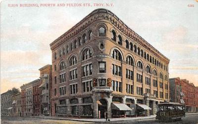 Ilion Building Troy, New York Postcard