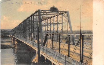 Congress Street Bridge Troy, New York Postcard