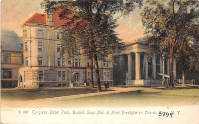 Congress Street Park Troy, New York Postcard