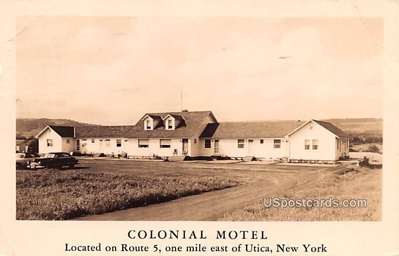 Colonial Motel - Utica, New York NY Postcard