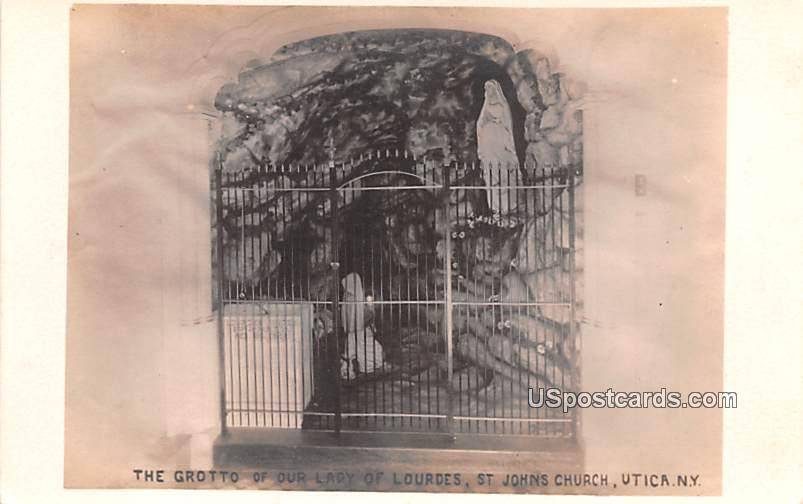 The Grotto of Our Lady of Lourdes - Utica, New York NY Postcard
