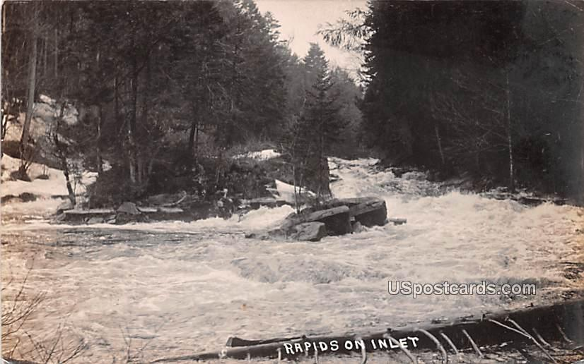 Rapids on Inlet - Utica, New York NY Postcard