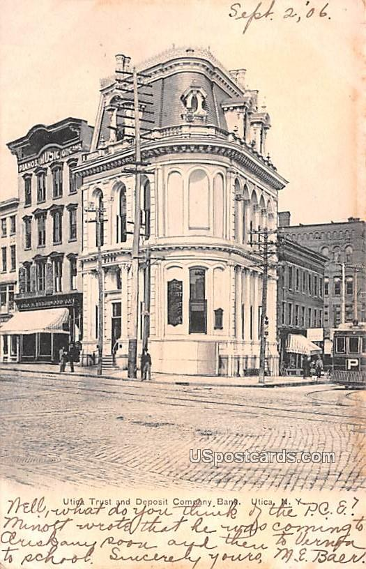 Utica Trust and Deposit Company Bank - New York NY Postcard
