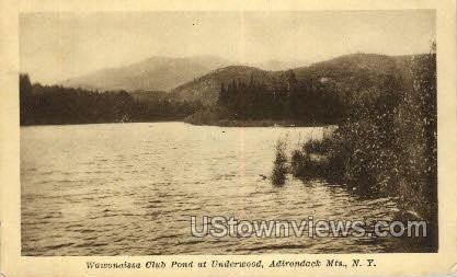 Wawonaissa Club Pond - Adirondack Mts, New York NY Postcard