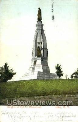 Knights of Pythias Monument - Utica, New York NY Postcard